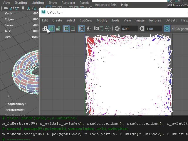 Generate random uv's Maya Python API « Evgeniy Zaitsev